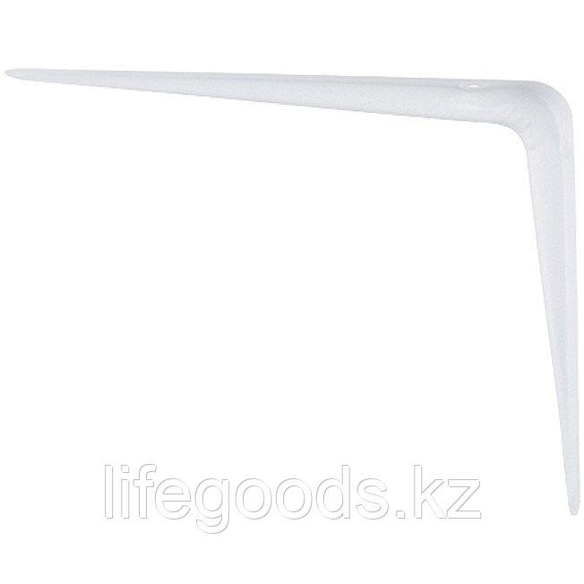 Кронштейн угловой с ребром, 200х250 мм, белый Сибртех 93953