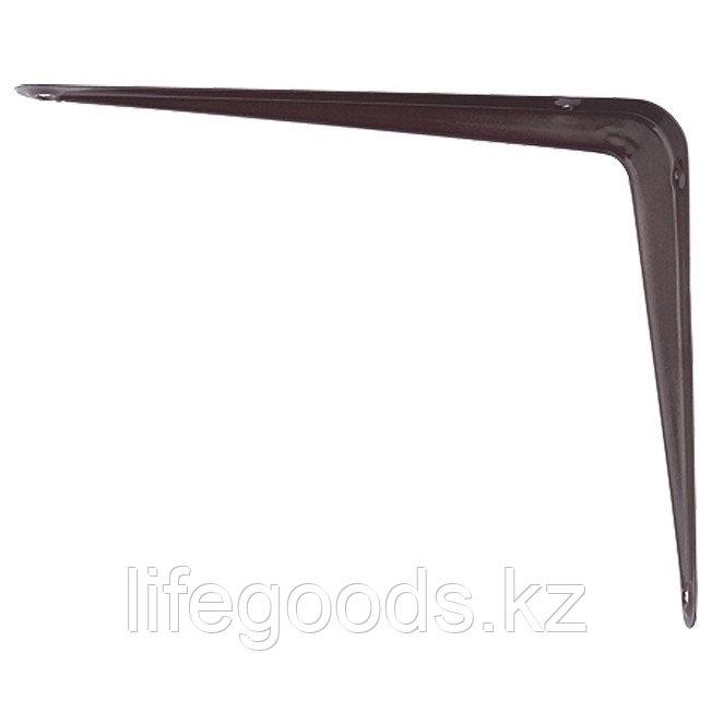 Кронштейн угловой с ребром, 400 х 450 мм, коричневый Сибртех 94030