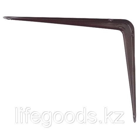 Кронштейн угловой с ребром, 400 х 450 мм, коричневый Сибртех 94030, фото 2