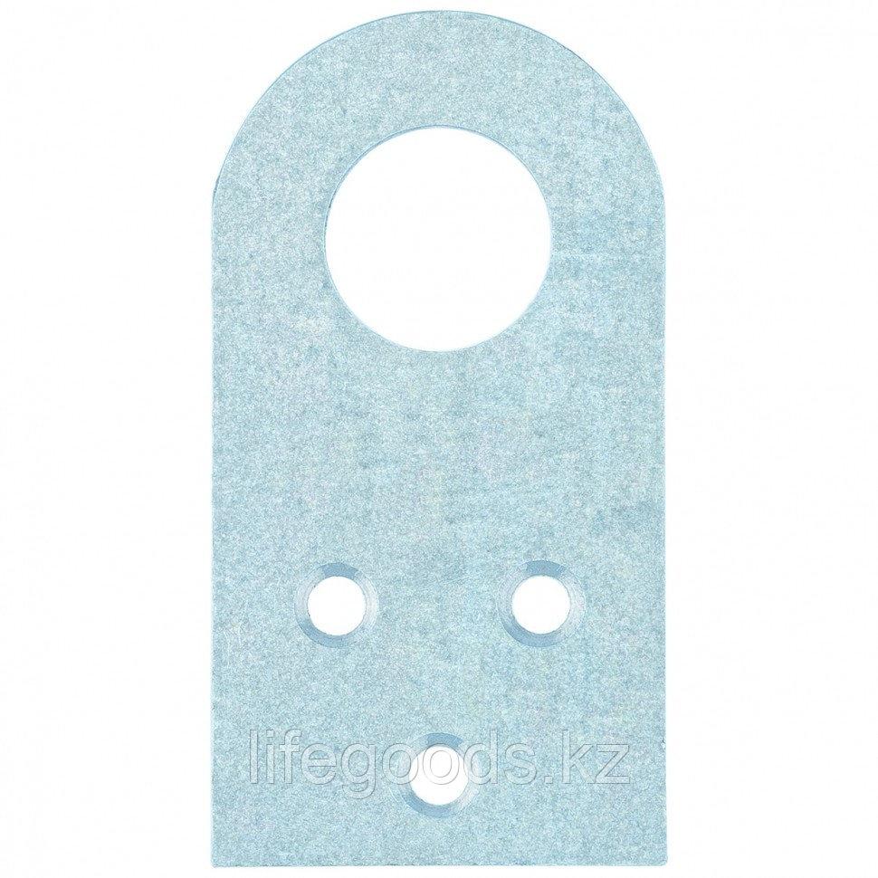Проушина прямая, 2 мм, 90 х 40 мм, цинк Россия Сибртех 46504