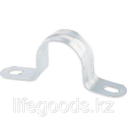 Скоба металлическая двухлапковая, 25 см, 100 шт Сибртех 48193