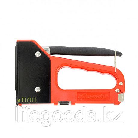 Степлер мебельный 4-функциональный пластиковый, тип скобы: 53, 28, 300, 500, 6-14 мм Matrix Master 40905, фото 2