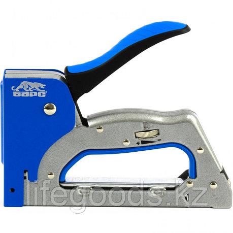 Степлер металлический, 3 в 1, регулятор удара, двухкомпонентная рукоятка, тип скобы: 53, 300, 500, 6-14 мм, фото 2