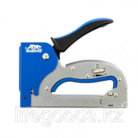 Степлер металлический, регулировка удара, двухкомпонентная рукоятка, тип скобы: 53, 4-14 мм Барс 40003, фото 2