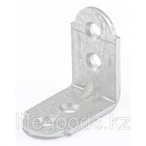 Уголок мебельный усиленный, 2 мм, 20 х 20 х 16 мм, цинк Россия Сибртех 46512, фото 2