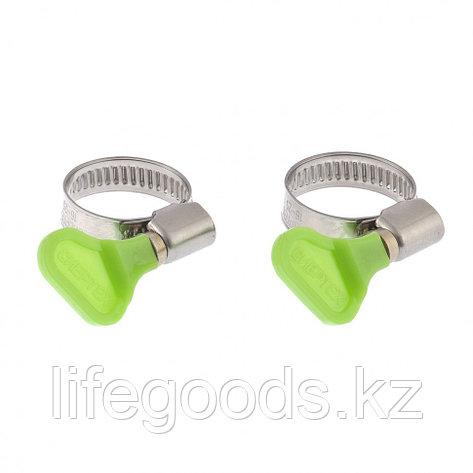 Хомуты металлические элемент крепления с формой ключа 25-40 мм, 2 шт Сибртех 47653, фото 2