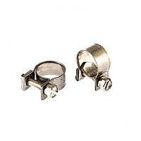 Хомуты металлические, MINI 12-14 мм, Ширинa 9 мм, винтовой, W4, 2 шт Сибртех 475043