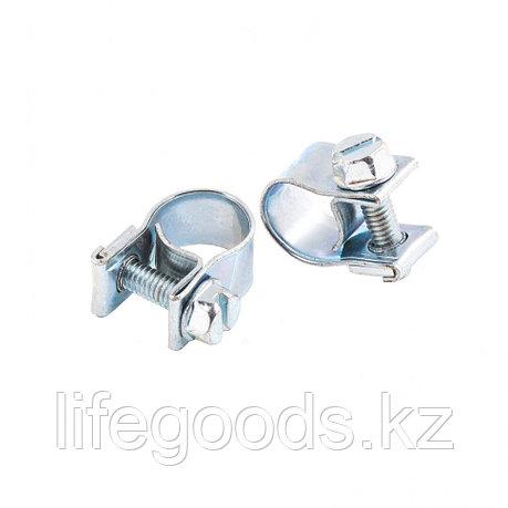 Хомуты металлические, MINI 9-11 мм, Ширинa 9 мм,  винтовой, W1, 2 шт Сибртех 47502, фото 2