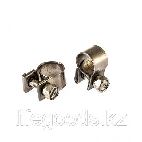 Хомуты металлические, MINI 9-11 мм, Ширинa 9 мм,  винтовой, W4, 2 шт Сибртех, фото 2
