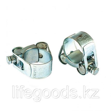 Хомуты металлические, силовые 23-25 мм, Ширинa 18 мм, шарнирный, W1, 2 шт Сибртех, фото 2