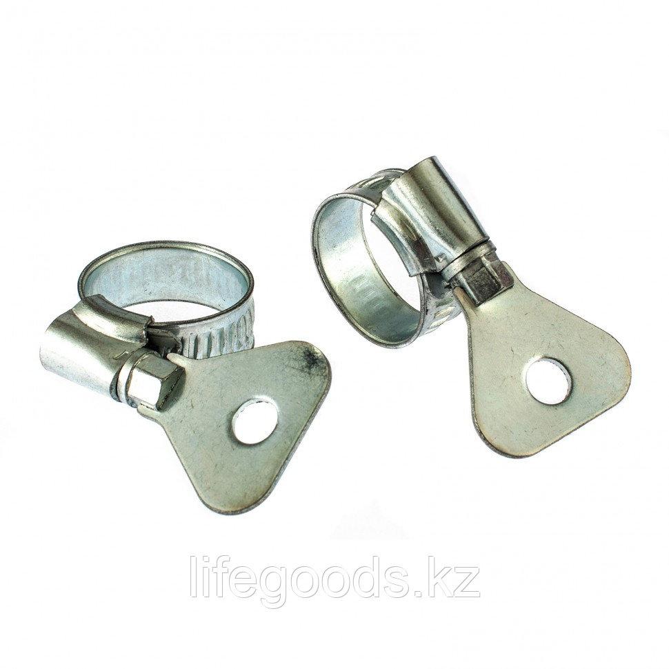 Хомуты металлические, червячные 12-20 мм, Ширинa 10 мм, W1, с металлическим ключом, 2 шт Сибртех 476497