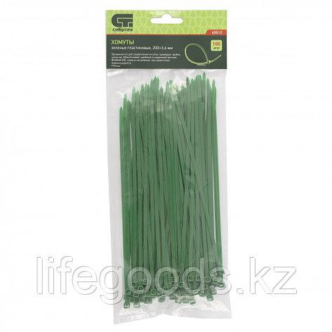Хомуты, 200 x 3,6 мм, пластиковые, зеленые, 100 шт Сибртех 45512, фото 2