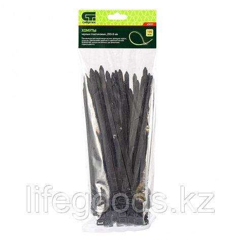 Хомуты, 200 х 8 мм, пластиковые, черные, 100 шт Сибртех 45557, фото 2