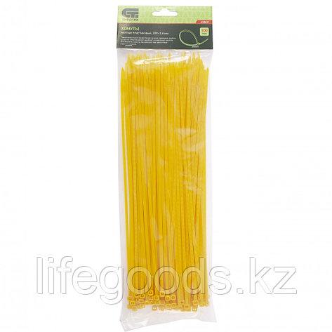 Хомуты, 300 x 3,6 мм, пластиковые, желтые, 100 шт Сибртех, фото 2