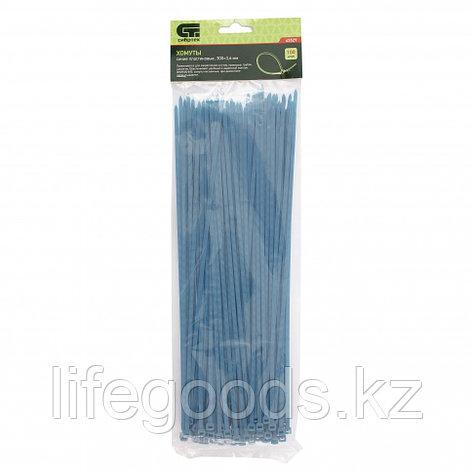 Хомуты, 300 x 3,6 мм, пластиковые, синие, 100 шт Сибртех 45529, фото 2