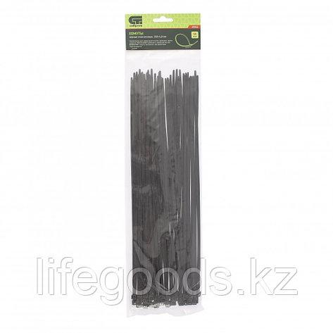 Хомуты, 350 x 4,8 мм, пластиковые, черные, 50 шт Сибртех, фото 2