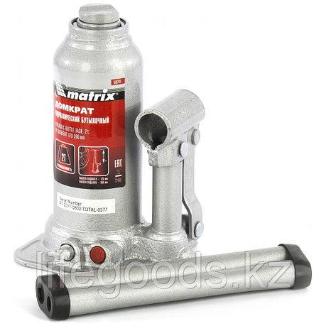 Домкрат гидравлический бутылочный телескопический, 2 т, подъем 170-380 мм Matrix, фото 2