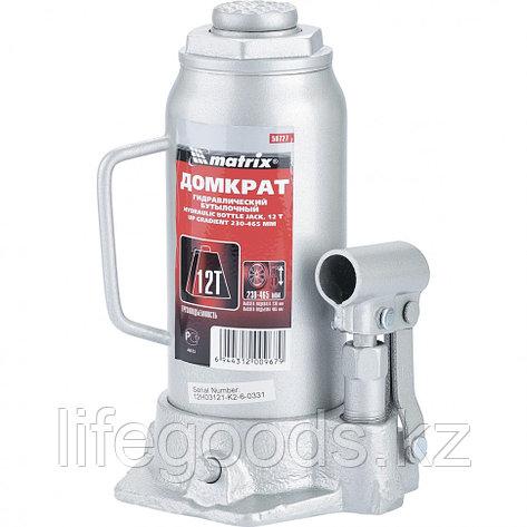 Домкрат гидравлический бутылочный, 12 т, Высотa подъема 230-465 мм Matrix Master, фото 2