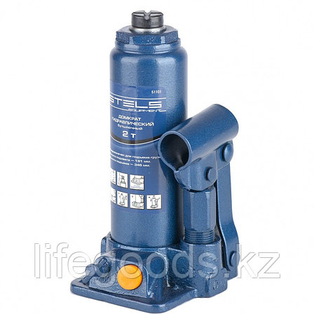 Домкрат гидравлический бутылочный, 2 т, H подъема 181-345 мм Stels, фото 2