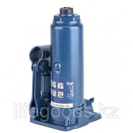 Домкрат гидравлический бутылочный, 2 т, H подъема 181-345 мм, в пластиковый кейс,е Stels, фото 2
