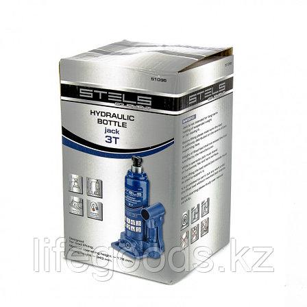 Домкрат гидравлический бутылочный, 3 т, H подъема 178-343 мм Stels, фото 2