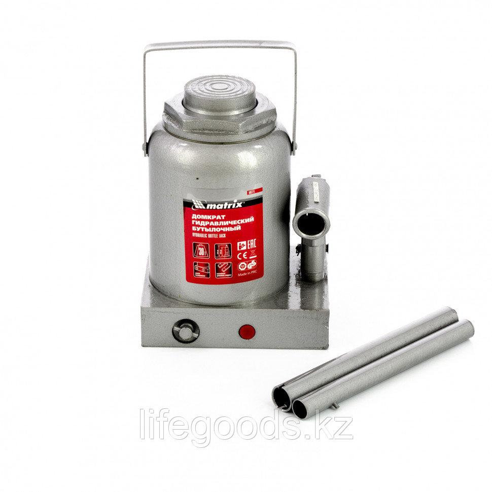 Домкрат гидравлический бутылочный, 30 т, h подъема 244-370 мм Matrix