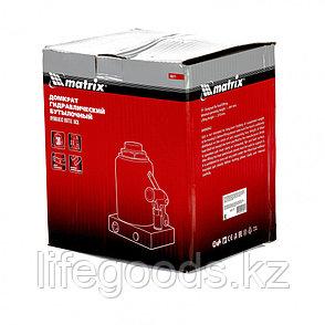 Домкрат гидравлический бутылочный, 30 т, h подъема 244-370 мм Matrix, фото 2
