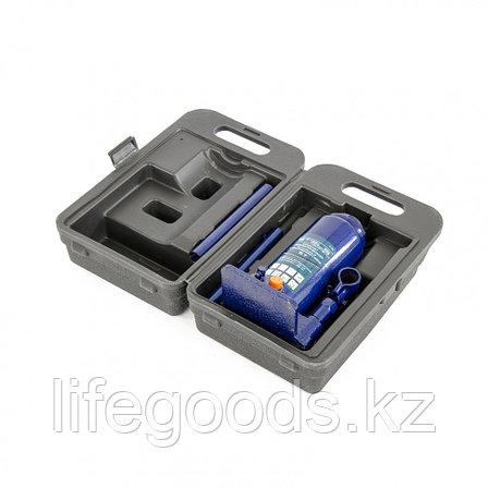Домкрат гидравлический бутылочный, 5 т, H подъема 197-382 мм, в пластиковом кейсе Stels, фото 2