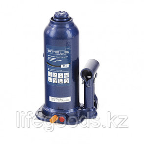 Домкрат гидравлический бутылочный, 5 т, h подъема 207-404 мм Stels, фото 2
