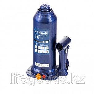 Домкрат гидравлический бутылочный, 5 т, h подъема 207-404 мм, в пластиковом кейсе Stels 51175, фото 2