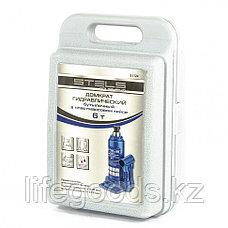 Домкрат гидравлический бутылочный, 6 т, H подъема 216-413 мм, в пластиковый кейс,е Stels, фото 3