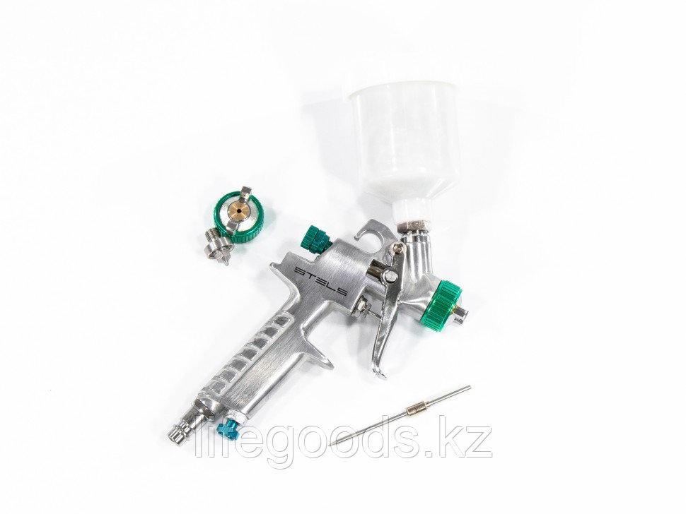 Краскораспылитель AG 810 HVLP, гравитационный, сопло 0,8 мм и 1 мм Stels 57361