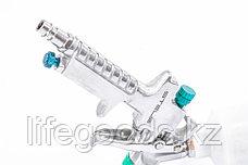 Краскораспылитель AG 810 HVLP, гравитационный, сопло 0,8 мм и 1 мм Stels 57361, фото 3