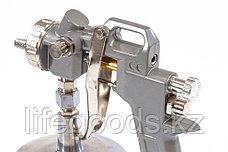 Краскораспылитель пневматический с нижним бачком V 0,75 л, сопло D 1.2, 1.5 и 1.8 мм Matrix, фото 2