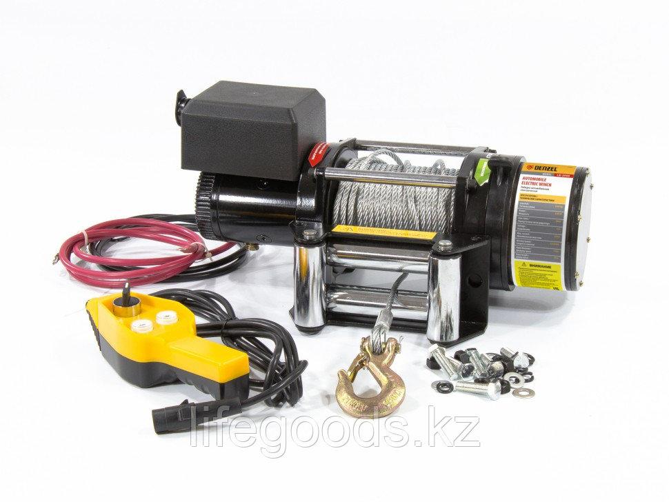 Лебедка автомобильная электрическая LB-2000, 2,2 т, 3,2 кВт, 12 В Denzel 52021