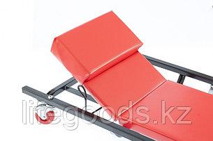 Лежак ремонтный на шести колесах, 1030 х 440 х 120 мм, поднимающийся подголовник Matrix 567455, фото 2