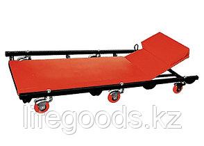 Лежак ремонтный на шести колесах, 1030 х 440 х 120 мм, поднимающийся подголовник Matrix 567455, фото 3