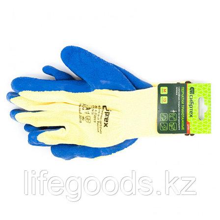 Перчатки хлопчатобумажные, латексное рельефное покрытие, M Сибртех 67751, фото 2