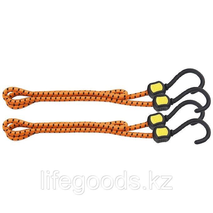 Резинки багажные, обрезиненные крюки, 2 шт, 600 мм Stels 54362
