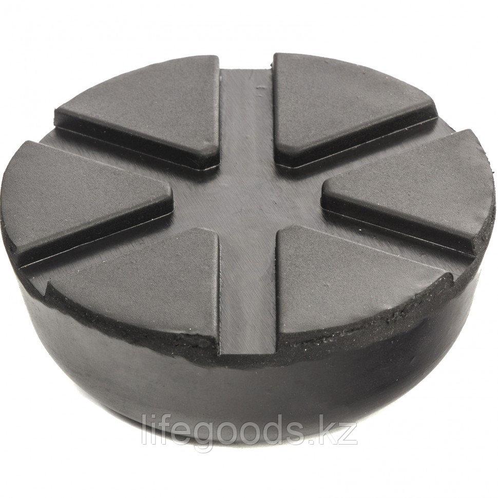 Резиновая опора для подкатного домкрата универсальная, D 89 мм, D 60 мм, H 35 мм Matrix 50910