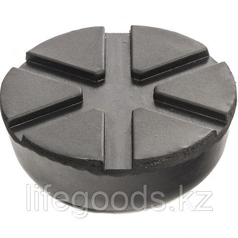 Резиновая опора для подкатного домкрата универсальная, D 89 мм, D 60 мм, H 35 мм Matrix 50910, фото 2