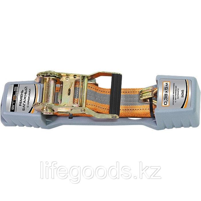 Ремень багажный с крюками, 0,038 х 10 м, храповой механизм Automatic Stels 54366