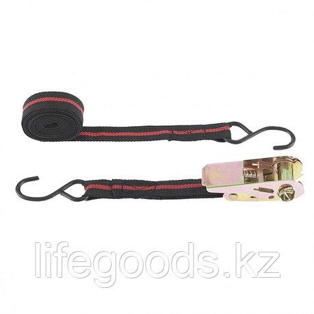 Ремень багажный с крюками, 5 м, храповой механизм Automatic Sparta 543385, фото 2
