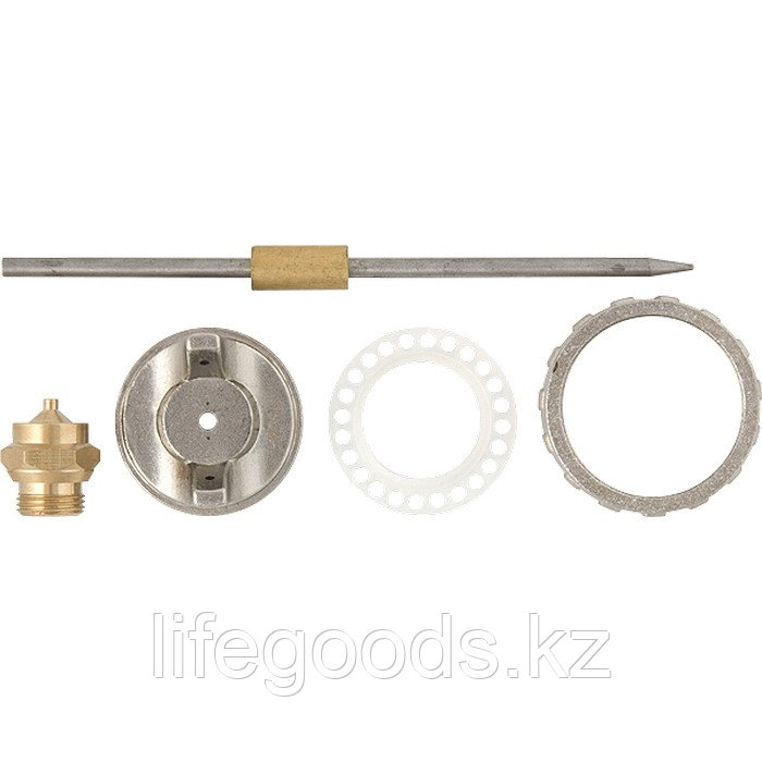 Ремкомплект для краскораспылителя 4 предмета : сопло 1,2 мм + игла + форсунка + зажим сопло Matrix 57380