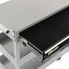 Тележка инструментальная, 737 х 383 х 668 мм, 3-секционная, с ящиком Matrix 567345, фото 3