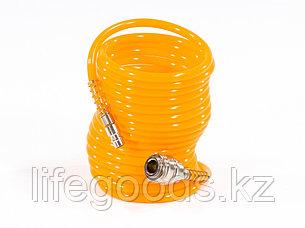 Шланг спиральный воздушный, 5 м, с быстросъемными соединениями Matrix 57002, фото 2