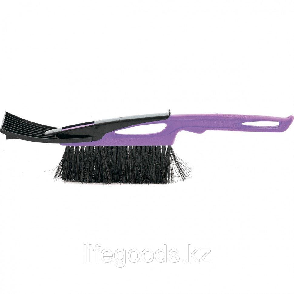 Щетка-сметка для снега со скребком 400 мм, фиолетовая Sparta Россия 552945