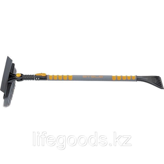 Щетка-сметка для снега со скребком телескопическая 900-1300 мм Stels 55301
