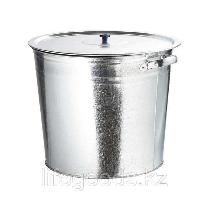 Бак для воды оцинкованный с крышкой (крышка с ручкой) 32 л, без крана Россия 67549