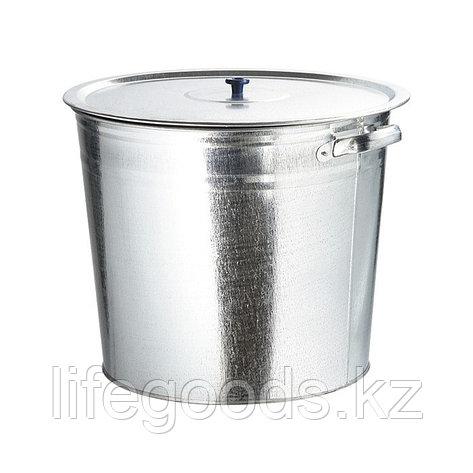 Бак для воды оцинкованный с крышкой (крышка с ручкой) 32 л, без крана Россия 67549, фото 2